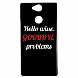 Etui na Sony Xperia XA2 Hello wine, GOODBYE  problems
