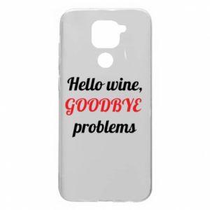 Etui na Xiaomi Redmi Note 9/Redmi 10X Hello wine, GOODBYE  problems