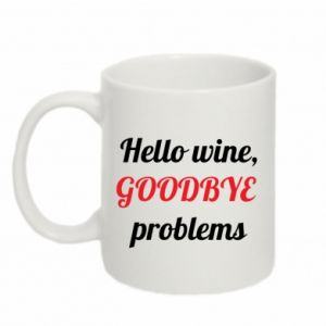 Kubek 330ml Hello wine, GOODBYE  problems