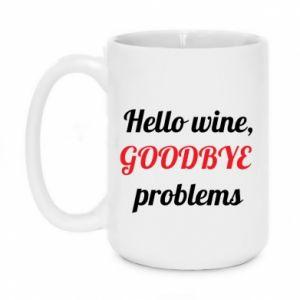 Kubek 450ml Hello wine, GOODBYE  problems