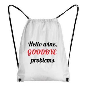 Plecak-worek Hello wine, GOODBYE  problems