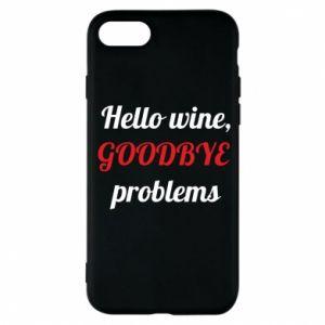 Etui na iPhone 8 Hello wine, GOODBYE  problems