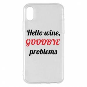 Etui na iPhone X/Xs Hello wine, GOODBYE  problems
