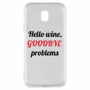 Etui na Samsung J3 2017 Hello wine, GOODBYE  problems