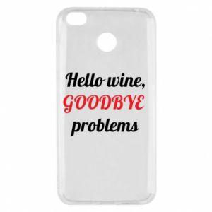 Etui na Xiaomi Redmi 4X Hello wine, GOODBYE  problems