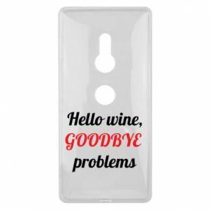 Etui na Sony Xperia XZ2 Hello wine, GOODBYE  problems