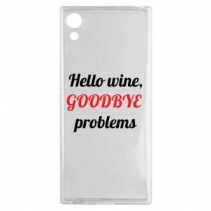 Etui na Sony Xperia XA1 Hello wine, GOODBYE  problems