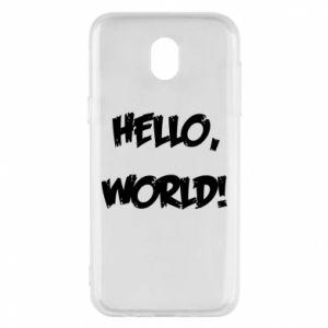 Phone case for Samsung J5 2017 Hello, world! - PrintSalon
