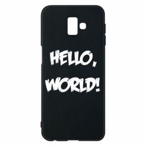Phone case for Samsung J6 Plus 2018 Hello, world! - PrintSalon