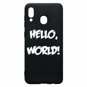 Phone case for Samsung A20 Hello, world! - PrintSalon