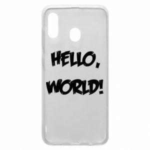 Phone case for Samsung A30 Hello, world! - PrintSalon