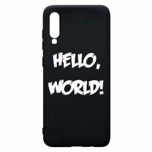 Phone case for Samsung A70 Hello, world! - PrintSalon