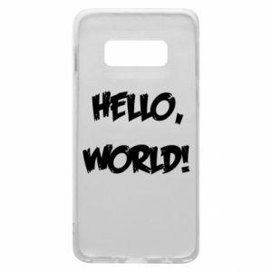 Phone case for Samsung S10e Hello, world! - PrintSalon