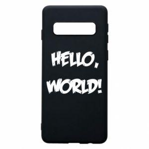 Phone case for Samsung S10 Hello, world! - PrintSalon