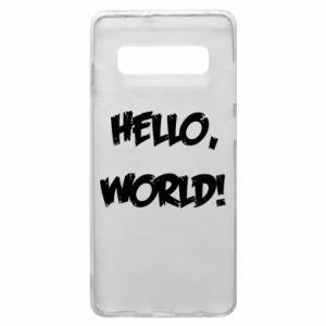 Phone case for Samsung S10+ Hello, world! - PrintSalon