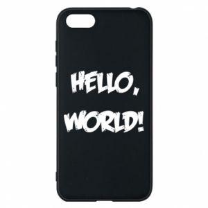 Phone case for Huawei Y5 2018 Hello, world! - PrintSalon