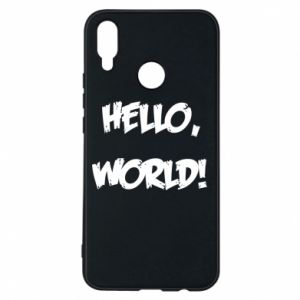 Phone case for Huawei P Smart Plus Hello, world! - PrintSalon