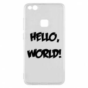 Phone case for Huawei P10 Lite Hello, world! - PrintSalon