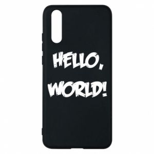 Phone case for Huawei P20 Hello, world! - PrintSalon