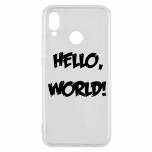 Phone case for Huawei P20 Lite Hello, world! - PrintSalon