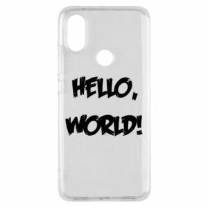 Phone case for Xiaomi Mi A2 Hello, world! - PrintSalon