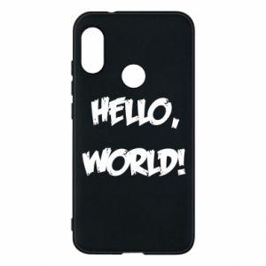 Phone case for Mi A2 Lite Hello, world! - PrintSalon