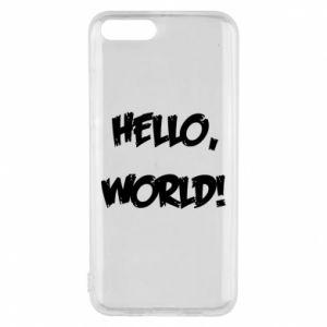 Phone case for Xiaomi Mi6 Hello, world! - PrintSalon