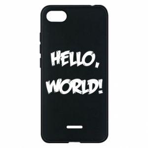 Phone case for Xiaomi Redmi 6A Hello, world! - PrintSalon
