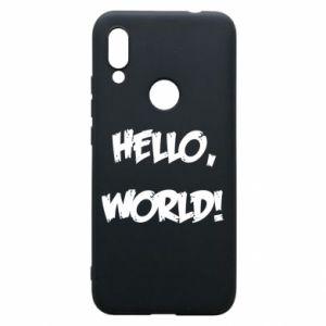 Phone case for Xiaomi Redmi 7 Hello, world! - PrintSalon