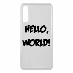 Phone case for Samsung A7 2018 Hello, world! - PrintSalon