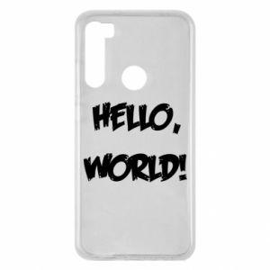 Etui na Xiaomi Redmi Note 8 Hello, world!