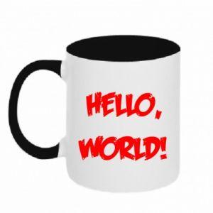 Two-toned mug Hello, world! - PrintSalon