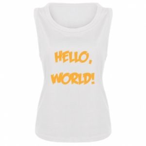 Women's t-shirt Hello, world! - PrintSalon