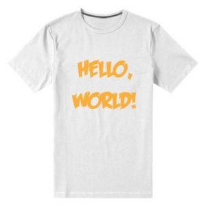 Męska premium koszulka Hello, world!