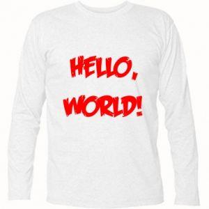 Long Sleeve T-shirt Hello, world! - PrintSalon