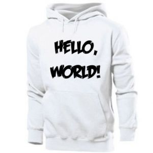 Men's hoodie Hello, world!
