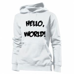 Women's hoodies Hello, world! - PrintSalon