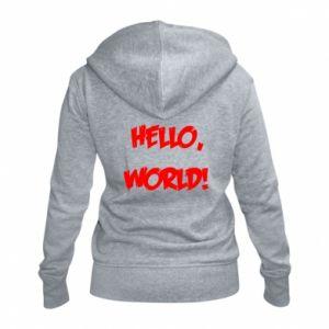 Women's zip up hoodies Hello, world! - PrintSalon