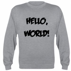 Sweatshirt Hello, world! - PrintSalon