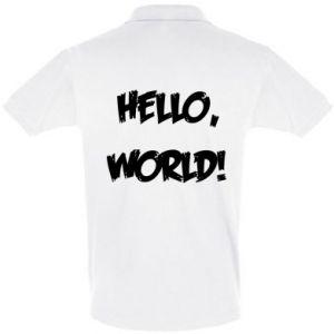 Men's Polo shirt Hello, world! - PrintSalon