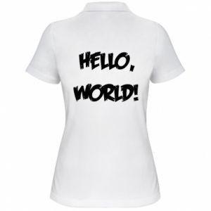 Women's Polo shirt Hello, world! - PrintSalon