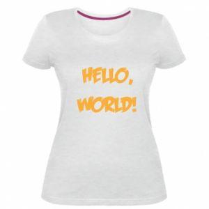 Women's premium t-shirt Hello, world! - PrintSalon