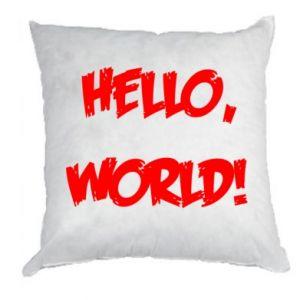 Pillow Hello, world! - PrintSalon