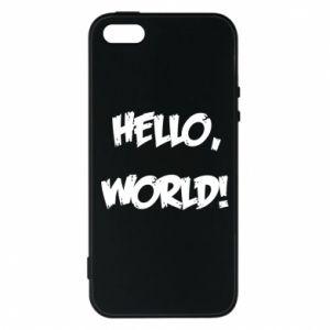 Phone case for iPhone 5/5S/SE Hello, world! - PrintSalon