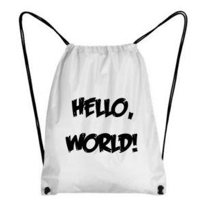 Backpack-bag Hello, world! - PrintSalon