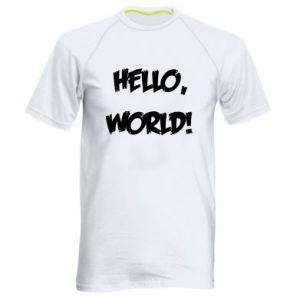 Men's sports t-shirt Hello, world! - PrintSalon