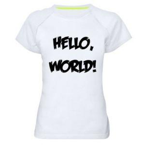 Women's sports t-shirt Hello, world! - PrintSalon