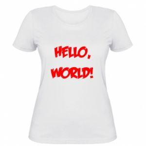 Damska koszulka Hello, world!