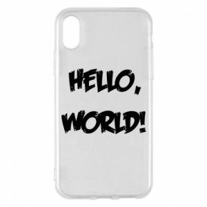 Phone case for iPhone X/Xs Hello, world! - PrintSalon