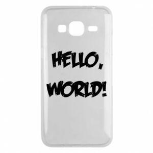 Phone case for Samsung J3 2016 Hello, world! - PrintSalon